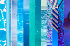 12 nuances de bleu Images libres de droits
