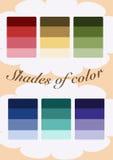 Nuances de couleurs Image libre de droits