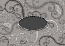 Nuances de Gray Paisley Pattern Background Photo stock