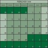 02 2018 nuances de la couleur trois de vert Photos libres de droits
