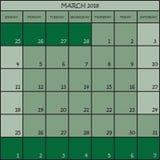 03 2018 nuances de la couleur trois de vert Photos stock