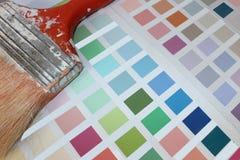 Nuances de peinture Image libre de droits