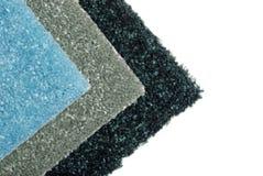 Nuances des échantillons verts de tapis images stock