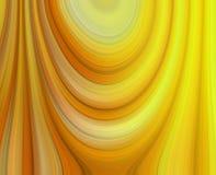 Nuances drapées de résumé jaune Photos stock