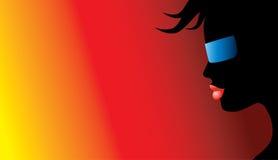 Nuances s'usantes de silhouette Images libres de droits