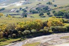 Nuanhe River autumn scenery Royalty Free Stock Photos