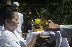 NUASTA CEREMONY HINDU INDONESIA Royalty Free Stock Photography