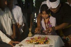 NUASTA-ZEREMONIE-HINDU INDONESIEN Lizenzfreies Stockfoto
