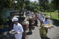 NUASTA-ZEREMONIE-HINDU INDONESIEN Lizenzfreie Stockfotografie