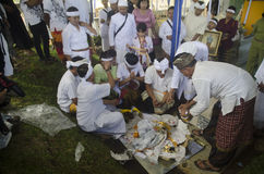 NUASTA-ZEREMONIE-HINDU INDONESIEN Stockfoto