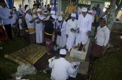 NUASTA-ZEREMONIE-HINDU INDONESIEN Lizenzfreies Stockbild