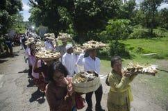 NUASTA-ZEREMONIE-HINDU INDONESIEN Stockfotos
