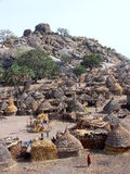 Nuba-Dorf Stockfoto