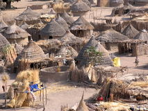 Nuba village, Africa Royalty Free Stock Photography