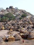 Nuba village Stock Photo
