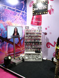 Nubar beauty products stand. Its exhibition stand of nubar beauty products stand Event - Professional Beauty Expo 2015, Mumbai Date - 6th Oct 2015 royalty free stock images