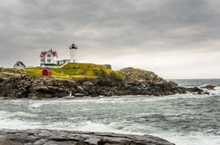 nubble Υόρκη του Maine λιμενικών φάρων Στοκ Φωτογραφίες