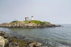 Nubble φάρος στο ακρωτήριο Neddick Στοκ Εικόνα