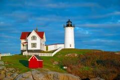Nubble latarnia morska, Maine Obrazy Stock