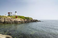 Nubble latarnia morska na przylądku Neddick Zdjęcia Stock