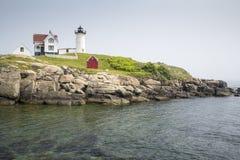 Nubble latarnia morska na przylądku Neddick Obrazy Royalty Free