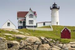 Nubble latarnia morska na przylądku Neddick Obraz Stock