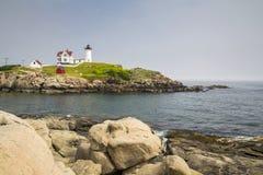 Nubble latarnia morska na przylądku Neddick Zdjęcie Stock
