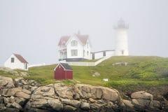 Nubble latarnia morska na przylądku Neddick Fotografia Stock