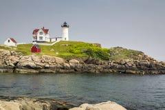 Nubble latarnia morska na przylądku Neddick Zdjęcie Royalty Free
