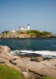 Nubble Light. House - Cape Neddick, York, Maine Stock Images