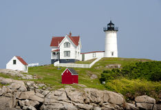 Nubble Light. Cape Neddick, Maine Royalty Free Stock Images