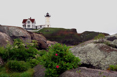 Nubble Light House Royalty Free Stock Photos