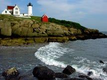 Nubble Lighthouse. Beautiful Nubble Lighthouse guards the coast of Maine Royalty Free Stock Photo