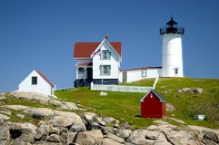 Nubble Lighthouse Royalty Free Stock Photography