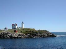 Nubble Lighthouse. At Cape Neddick near York Maine Royalty Free Stock Photo