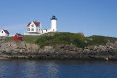 Nubble Lighthouse. On the Maine coast Stock Photos