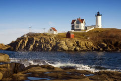 Nubble Lighthouse Stock Photos