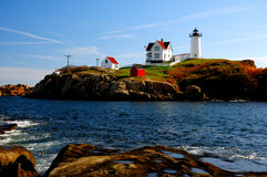 Nubble Lighthouse Stock Photography