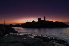 Nubble Lighthouse Royalty Free Stock Photography
