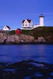 Nubble Lighthouse At Dusk Stock Image