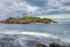 Nubble Lighthouse, Cape Neddick, Maine Stock Photo