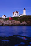 Nubble Lighthouse at Dusk Stock Image