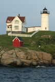 Nubble Lighthouse - Evening Glow Stock Images