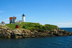 Nubble lighthouse Maine Stock Photo