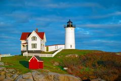 Nubble Lighthouse, Maine Stock Images