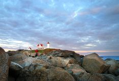 Nubble Lighthouse, Maine Royalty Free Stock Images