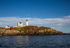 Nubble lighthouse in Maine USA Stock Image