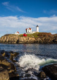 Nubble lighthouse in Maine USA Stock Photos