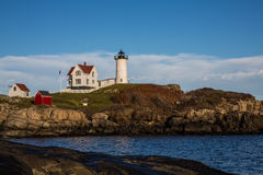 Nubble lighthouse in Maine USA Royalty Free Stock Photos