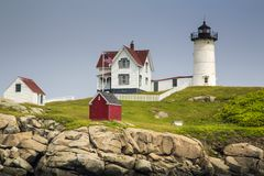 Free Nubble Lighthouse On Cape Neddick Stock Images - 101162404